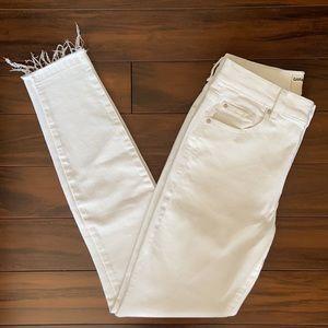Garage High Rise Frayed Skinny Jeans